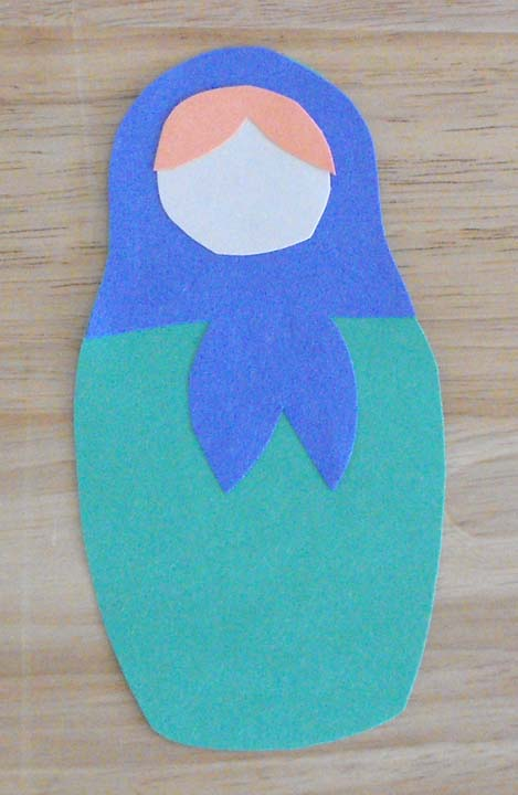 First Grade Social studies Activities: Make a Felt Matryoshka