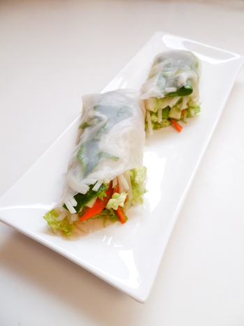 Fourth Grade Recipes Activities: Spring Rolls