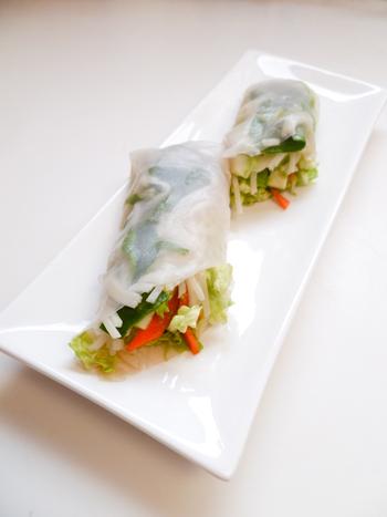 Fourth Grade Recipes Activities: Spring Rolls