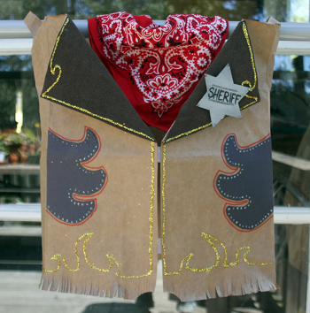 Kindergarten Social Studies Activities: How to Make a Cowboy Vest