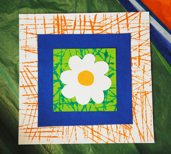 First Grade Arts & Crafts Activities: Flower Greeting Cards