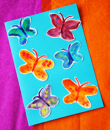 Second Grade Arts & crafts Activities: Watercolor Butterflies