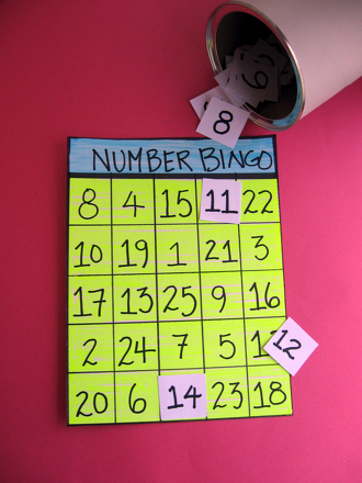 Kindergarten Math Activities: Number Recognition Bingo