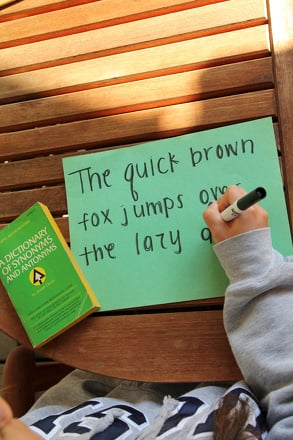 Fourth Grade Reading & Writing Activities: Win the Pangram Competition
