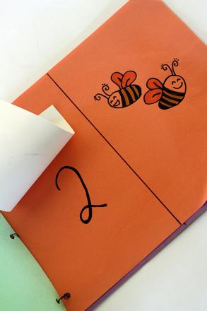 Preschool Math Activities: Counting Flap Book