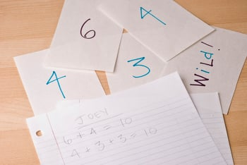Second Grade Math Activities: Turn Over Ten: An Addition Game