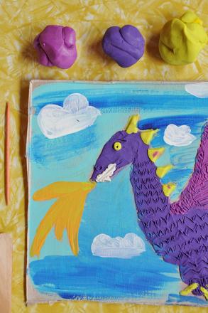 Second Grade Arts & Crafts Activities: Relief Sculpture Art