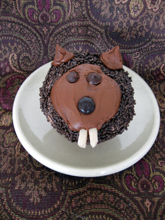 Third Grade Holidays & Seasons Activities: Groundhog Cupcakes