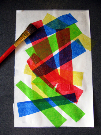 Third Grade Arts & crafts Activities: Paint with Tissue Paper