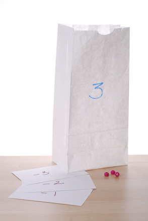 First Grade Math Activities: Play Subtraction Sacks