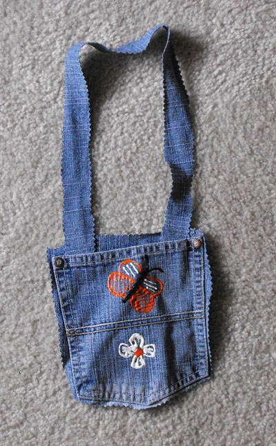 Kindergarten Arts & crafts Activities: Jean Purse