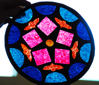 Middle School Arts & Crafts Activities: Create a Stained Glass Rose Window