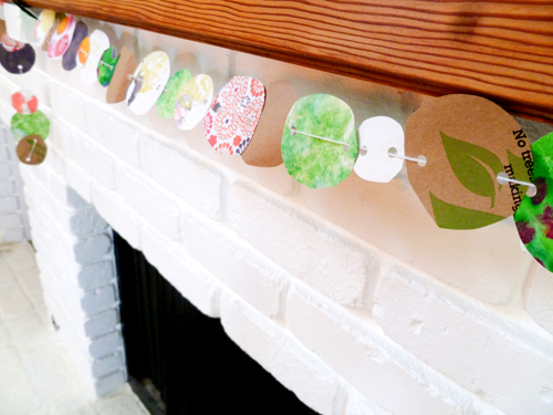Fourth Grade Arts & crafts Activities: Recycled Paper Garland