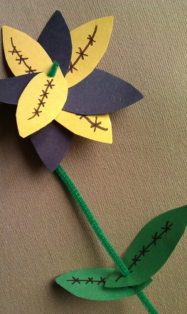 Third Grade Holidays Activities: Father's Day Flower