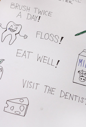 Kindergarten Reading & Writing Activities: Make a Tooth Care Poster