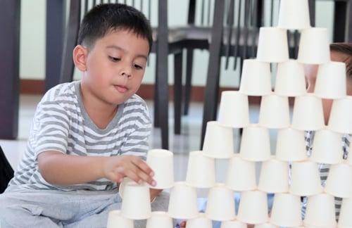 Preschool Science Activities: Design Challenge: Creating a Cup Tower