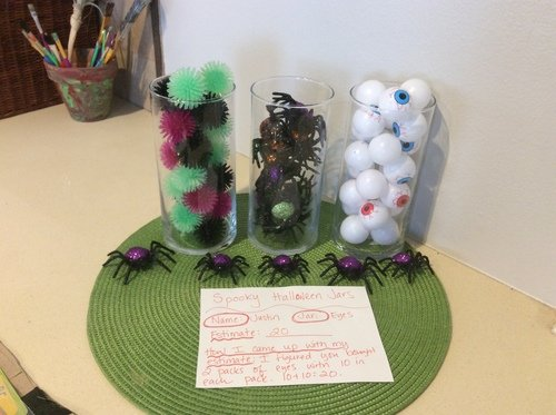 Second Grade Math Activities: Spooky Halloween Jars