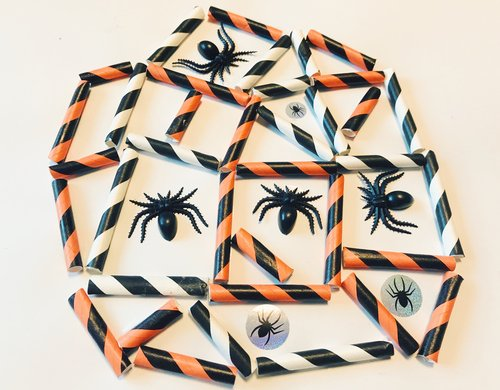 Preschool Math Activities: Spider Web Shapes