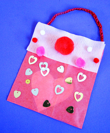 First Grade Holidays Activities: Secret Valentine Message Handbag