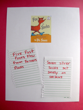 First Grade Offline games Activities: Fox in Socks-Inspired Tongue Twister Contest