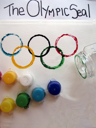Second Grade Holidays & Seasons Activities: Olympic Rings Picture