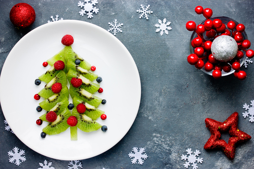 Preschool Holidays Activities: Create a Christmas Tree with Fruit