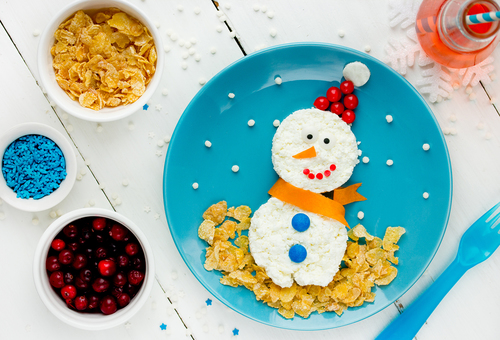 Preschool Seasons Activities: Make a Healthy Snowman Breakfast