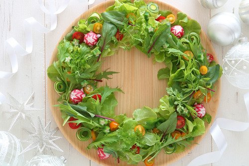 Preschool Holidays Activities: Create a Christmas Wreath Salad