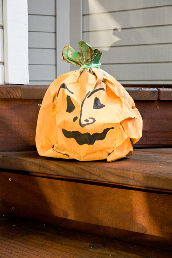 Fourth Grade Holidays & Seasons Activities: Paper Bag Jack-o'-Lantern