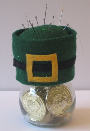 Fifth Grade Holidays Activities: Leprechaun Hat Pin Cushion