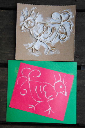 Third Grade Arts & Crafts Activities: Rubber Band Printmaking