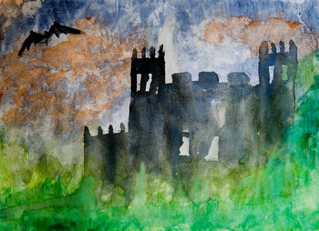 Fifth Grade Holidays & Seasons Activities: Halloween Watercolor