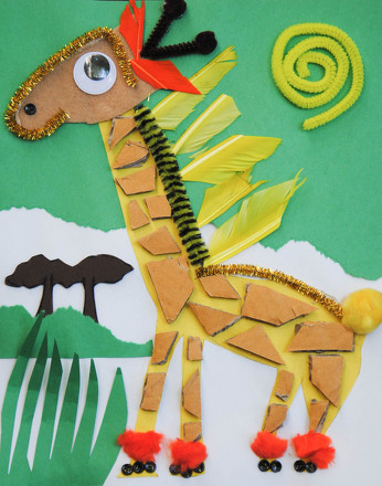 Fourth Grade Arts & Crafts Activities: Giraffe Craft