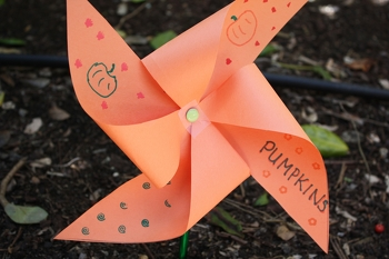 Kindergarten Science Activities: Make Garden Pinwheels
