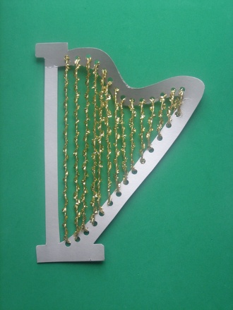 Third Grade Holidays Activities: Irish Harp Craft