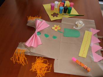 First Grade Arts & crafts Activities: Make a Paper Bag Costume