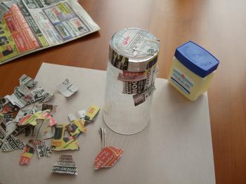 Middle School Arts & Crafts Activities: Papier-Mâché Pencil Pot