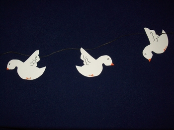 First Grade Holidays & Seasons Activities: Dove Decorations