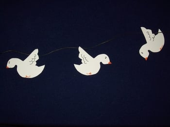 First Grade Seasons Activities: Dove Decorations