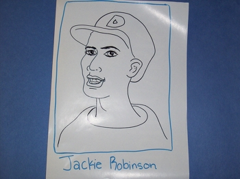 Third Grade Holidays & Seasons Activities: Make a Jackie Robinson Baseball Card