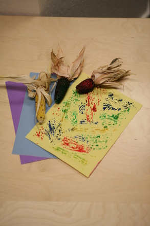 First Grade Holidays & Seasons Activities: Make Corn Print Patterns!