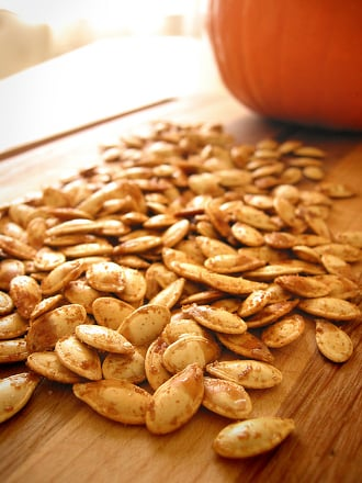 Preschool Holidays Activities: Roasted Pumpkin Seeds