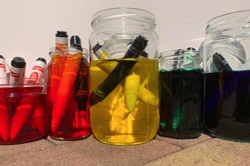 Preschool Science Activities: Reuse Markers to Create Liquid Watercolors