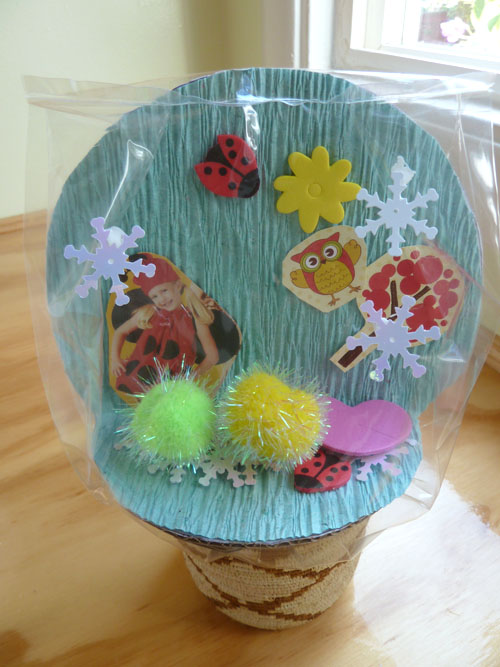 Kindergarten Arts & crafts Activities: Make a Summer Snow Globe