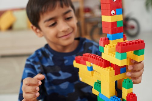 First Grade Science Activities: Building Brick Challenge: Build a Tall Tower