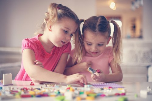 Preschool Science Activities: Building Brick Challenge: Make a Face