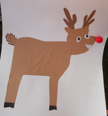 Second Grade Holidays Activities: Pin the Nose on Rudolph!