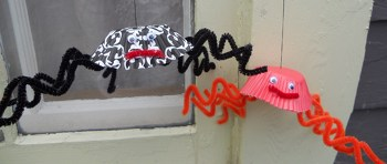 Second Grade Holidays & Seasons Activities: Baking Cup Spiders