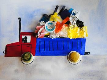 Second Grade Arts & crafts Activities: Scrap Art