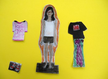Third Grade Arts & crafts Activities: Personalized Paper Dolls